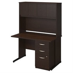 Bush BBF Series C Elite 48W x 30D C Leg Computer Desk in Mocha Cherry