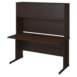 Bush BBF Series C Elite 60W x 30D C Leg Computer Desk in Mocha Cherry