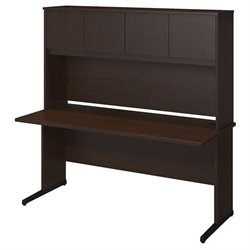 Bush BBF Series C Elite 66W x 30D C Leg Computer Desk in Mocha Cherry