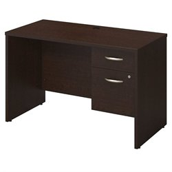 Bush BBF Series C Elite 48W x 24D Computer Desk Shell in Mocha Cherry