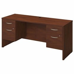 Bush BBF Series C Elite 66W x 24D Computer Desk Shell in Hansen Cherry