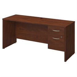 Series C Elite 72W x 24D Desk Shell with 3/4 Pedestal
