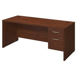 Series C Elite 72W x 30D Desk Shell with 3/4 Pedestal