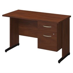 Bush BBF Series C Elite 48W x 24D C Leg Computer Desk in Hansen Cherry