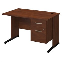 Bush BBF Series C Elite 48W x 30D C Leg Computer Desk in Hansen Cherry