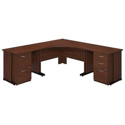 Bush BBF Series C Elite 48W x 48D Corner Office Set in Hansen Cherry