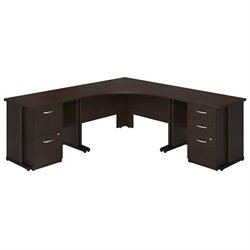 Bush BBF Series C Elite 48W x 48D Corner Office Set in Mocha Cherry