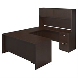 Bush BBF Series C Elite 72W x 30D U Shape Office Set in Mocha Cherry