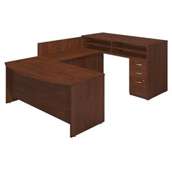 Bush BBF Series C Elite 72Wx36D Standing U Office Set in Hansen Cherry