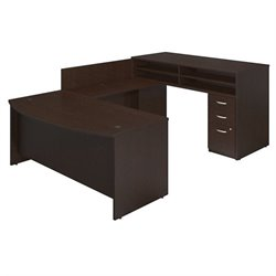 Bush BBF Series C Elite 72Wx36D Standing U Office Set in Mocha Cherry