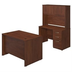 Bush BBF Series C Elite 48W x 30D 2 Piece Office Set in Hansen Cherry