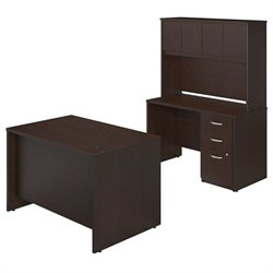 Bush BBF Series C Elite 48W x 30D 2 Piece Office Set in Mocha Cherry