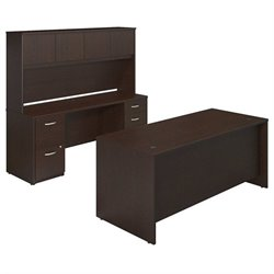 Bush BBF Series C Elite 72W x 30D 2 Piece Office Set in Mocha Cherry