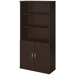 Bush BBF Series C Elite 36W Bookcase with Doors in Mocha Cherry