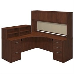 Bush BBF Series C Elite 42W x 42D L Corner Desk in Hansen Cherry