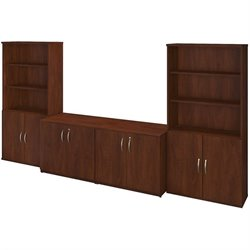 Bush BBF Series C Elite Storage Cabinets and Bookcase in Hansen Cherry