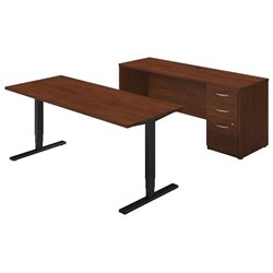 Series C Elite 72W Height Adjustable Table with Credenza