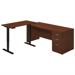 Series C Elite 72W L Desk with Height Adjustable Return