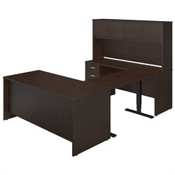 Bush BBF Series C Elite 72W Standing Adjustable Office Set with Hutch