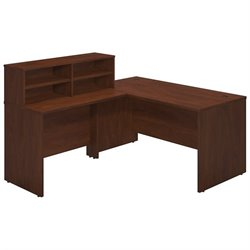 Bush BBF Series C Elite 60W x 30D L Reception Desk in Hansen Cherry