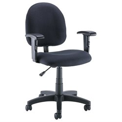 Bush Business Furniture Commercial Office Chair with Arms in Black