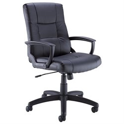 Bush BBF Commercial Leather Office Chair in Black