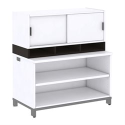 Momentum 2 Shelf Bookcase with Hutch I