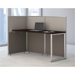 Bush Business Furniture Easy Office Wood Computer Desk in Mocha Cherry