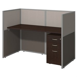 Bush Business Easy Office 3 Drawer Wood Computer Desk in Mocha Cherry