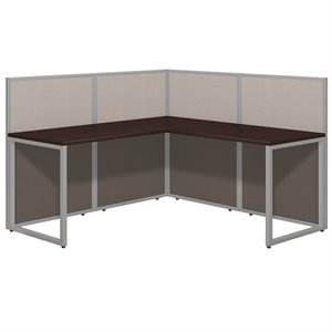 Bush Business Easy Office L Shaped Wood Computer Desk in Mocha Cherry