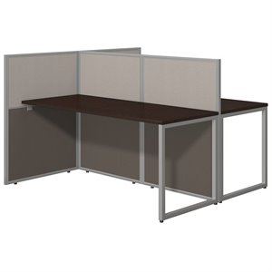 Bush Business Easy Office Wood Computer Desk for Two in Mocha Cherry