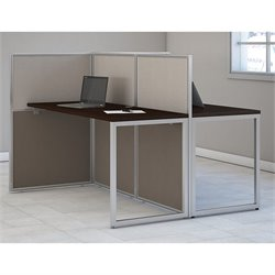 Bush BBF Easy Office Wood Computer Desk for Two in Mocha Cherry