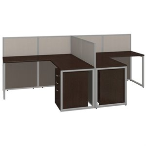 Bush Business Easy Office L Shaped Computer Desk for 2