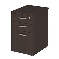 Bush BBF Easy Office 3 Drawer Mobile Filing Cabinet in Mocha Cherry