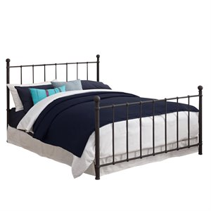 DHP BrickMill Metal Full Bed in Bronze - 3280196