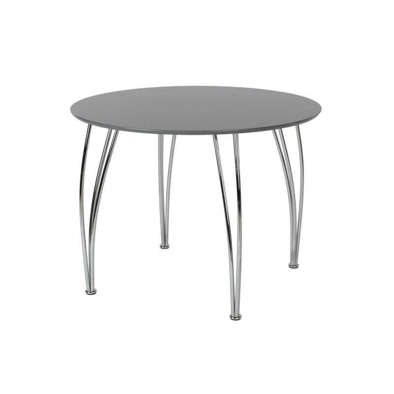 DHP Bentwood Round Dining Table in Gray