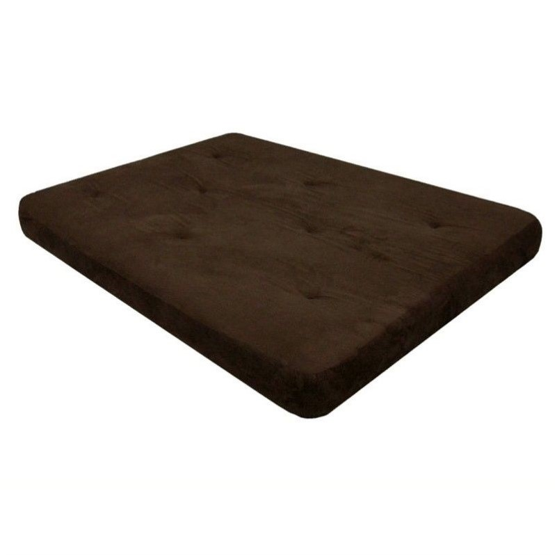 DHP 6-Inch Independently-Encased Coil Premium Full-Size Futon Mattress in Chocolate