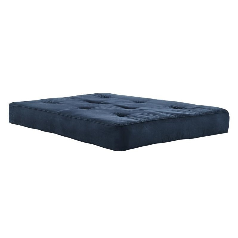 DHP 8-Inch Independently-Encased Coil Futon Mattress in Blue