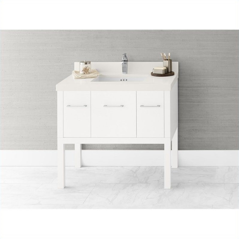 Ronbow Calabria 37 Bathroom Vanity Single in White