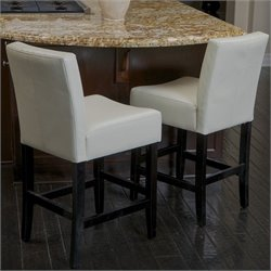 Trent Home 26 Counter Stools in Ivory (Set of 2)