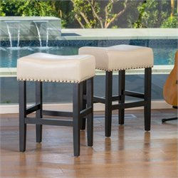 Trent Home 26 Counter Stool in Ivory (Set of 2)