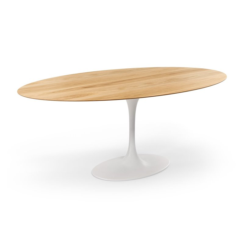 AEON Furniture Catalan Oval Dining Table in White Oak