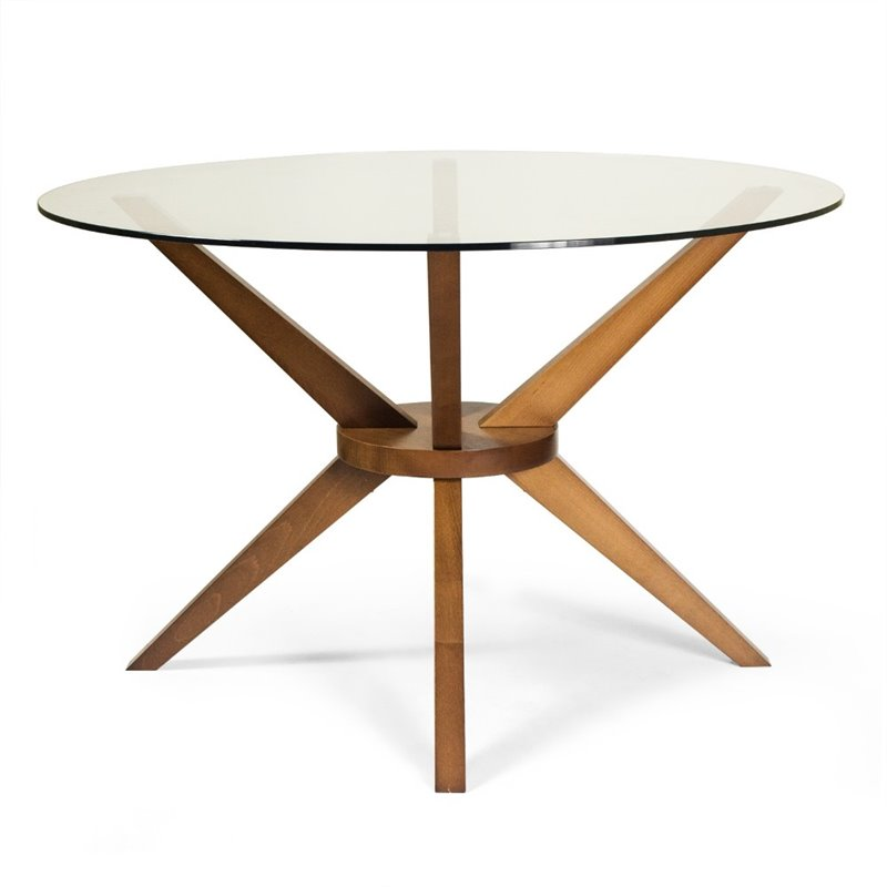 AEON Beechwood Bianca Round Dining Table in Walnut