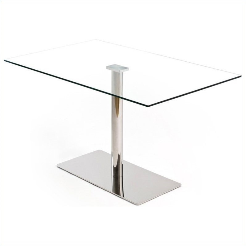 AEON Furniture Willow Dining Table In Stainless Steel 494003