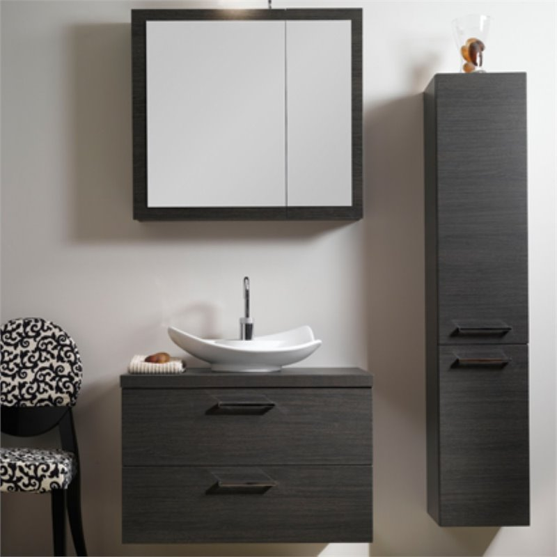 Nameeks Aurora 30 Bathroom Vanity in Gray Oak