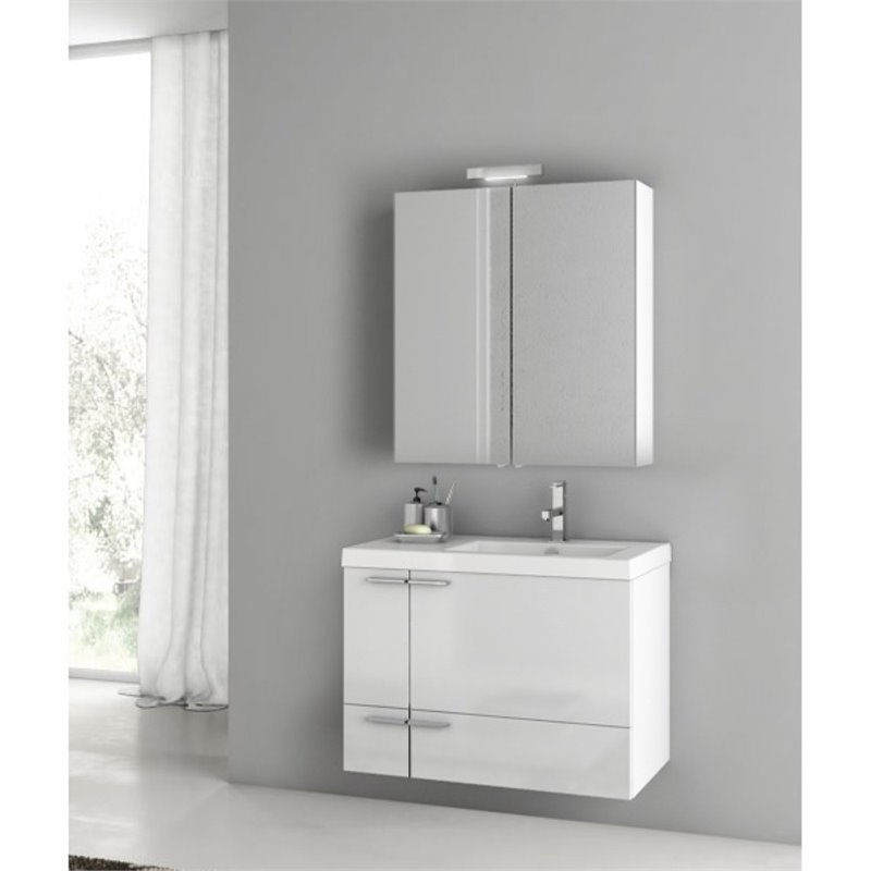 Nameeks New Space 31 Bathroom Vanity in Glossy White
