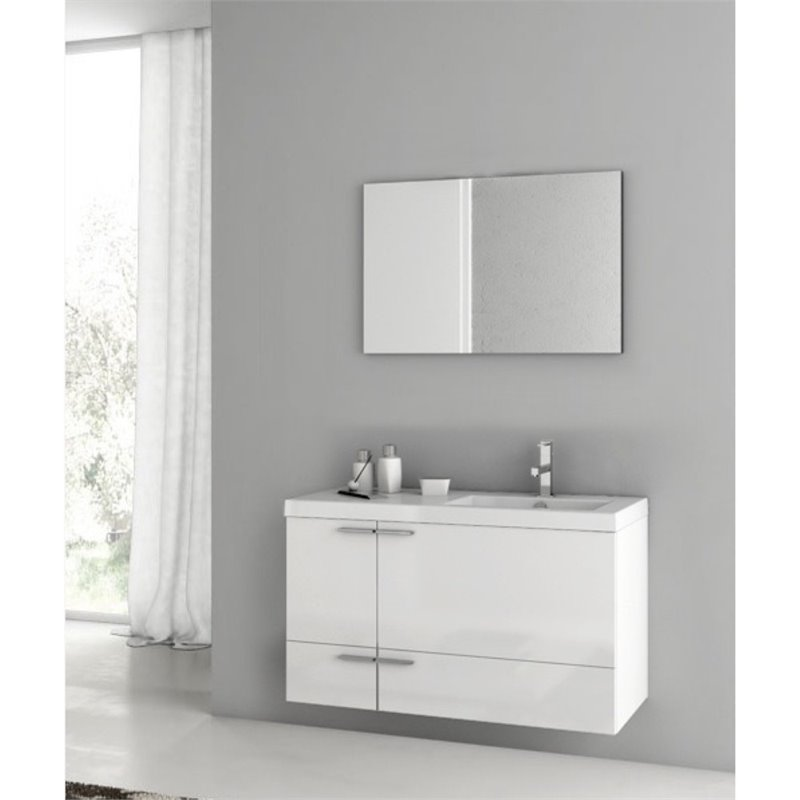 Nameeks New Space 39 Bathroom Vanity in Glossy White