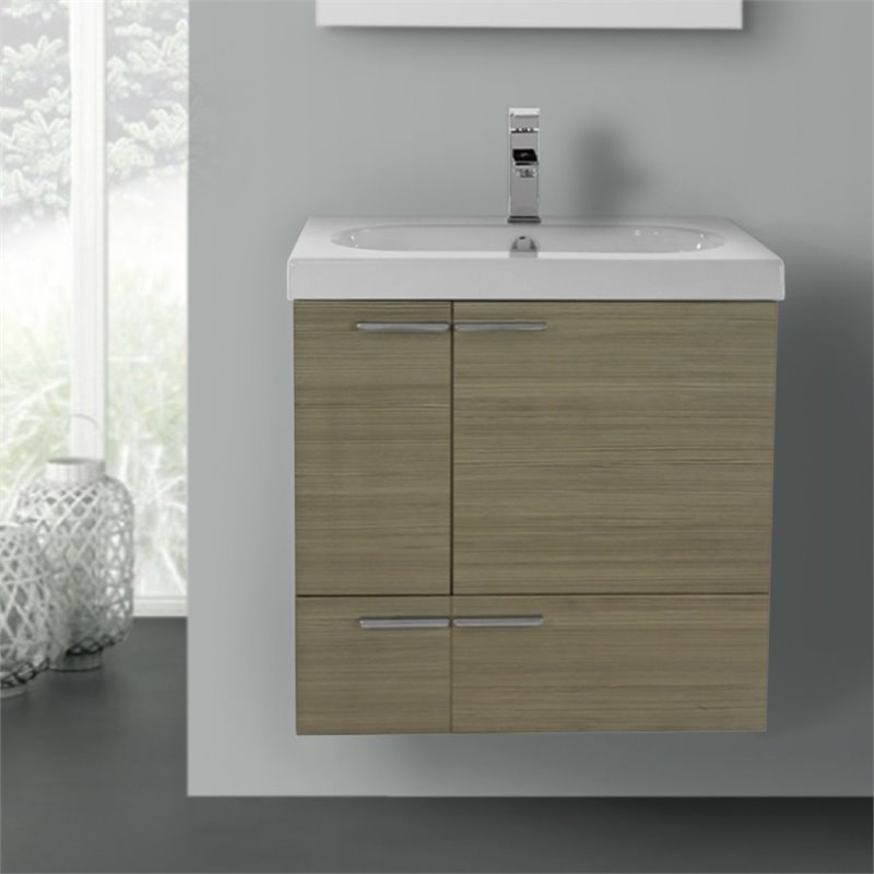 Nameeks New Space 23 Bathroom Vanity in Larch Canapa