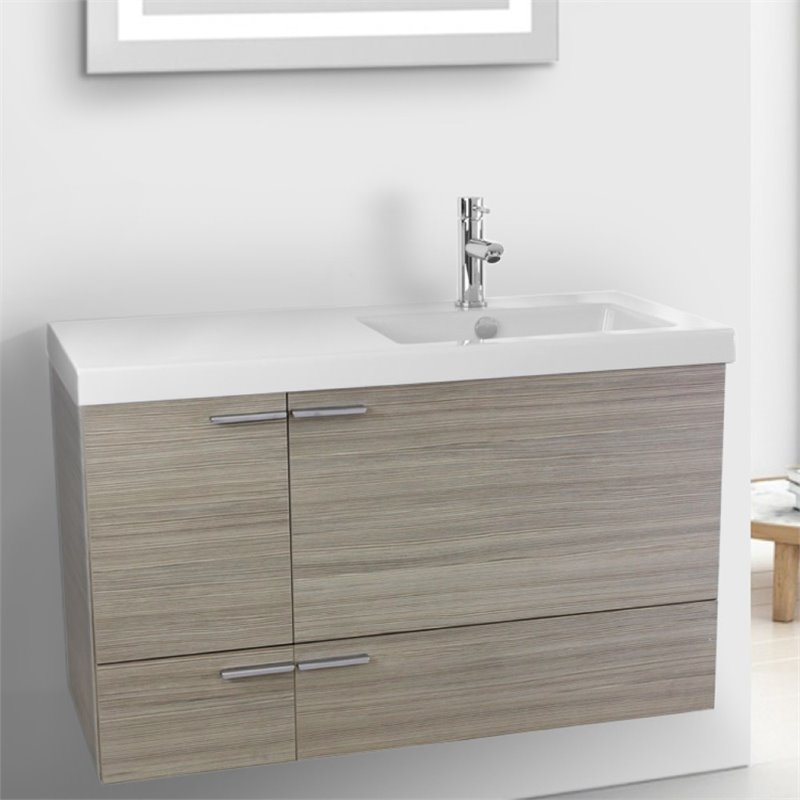 Nameeks New Space 28 Bathroom Vanity in Larch Canapa