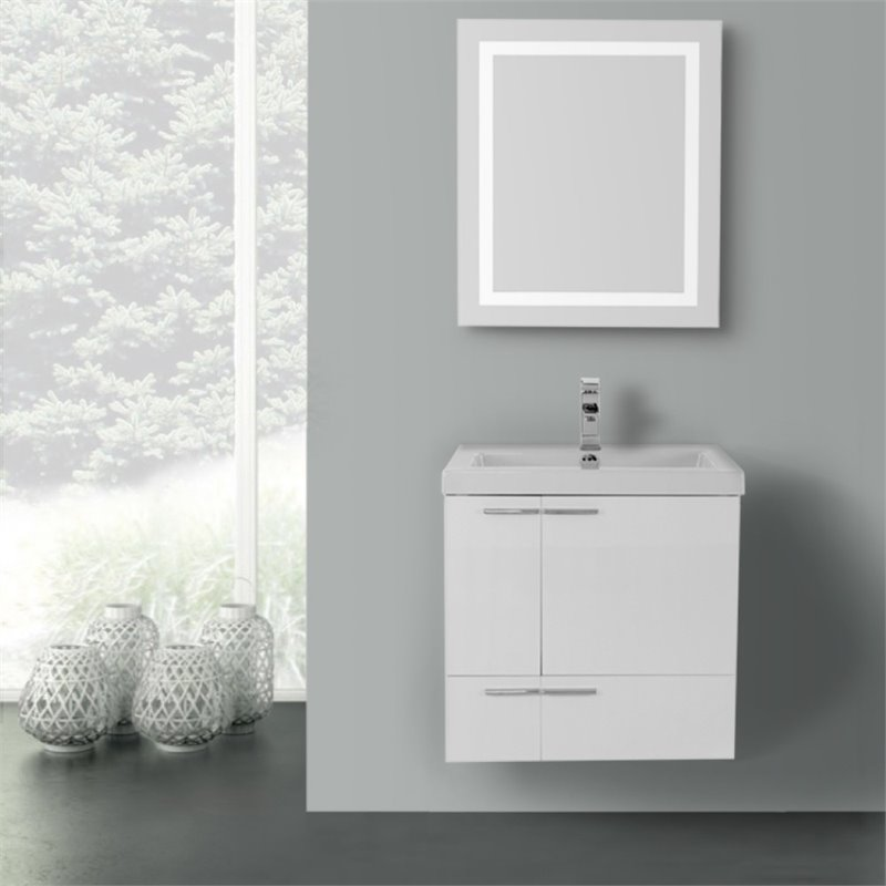 Nameeks New Space 23 Bathroom Vanity in Glossy White